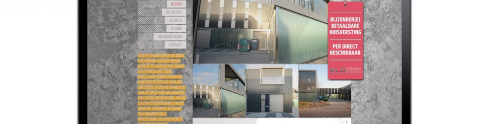 Website Bloxxx voor BAM Utiliteitsbouw en AM Real Estate Development